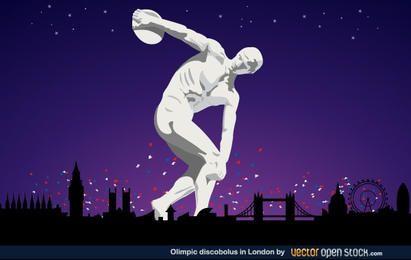 Discobólo olímpico em Londres 2012
