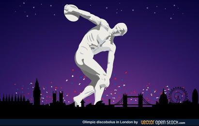 Olympischer Discobolus in London 2012