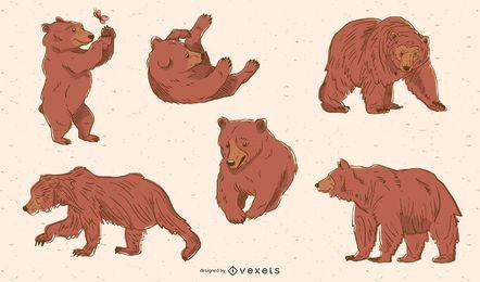 Pacote de urso marrom