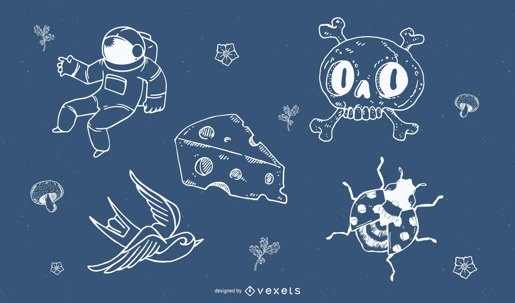 random vectors & doodles