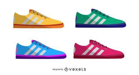 Calzado deportivo de colores