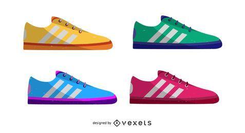 Zapatos deportivos coloridos