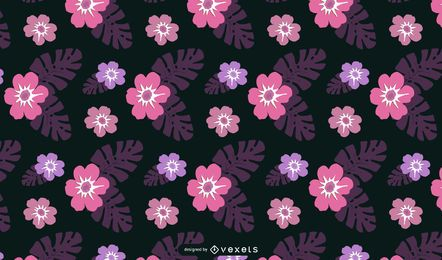 Hawaii Floral Wallpaper Vector- Free
