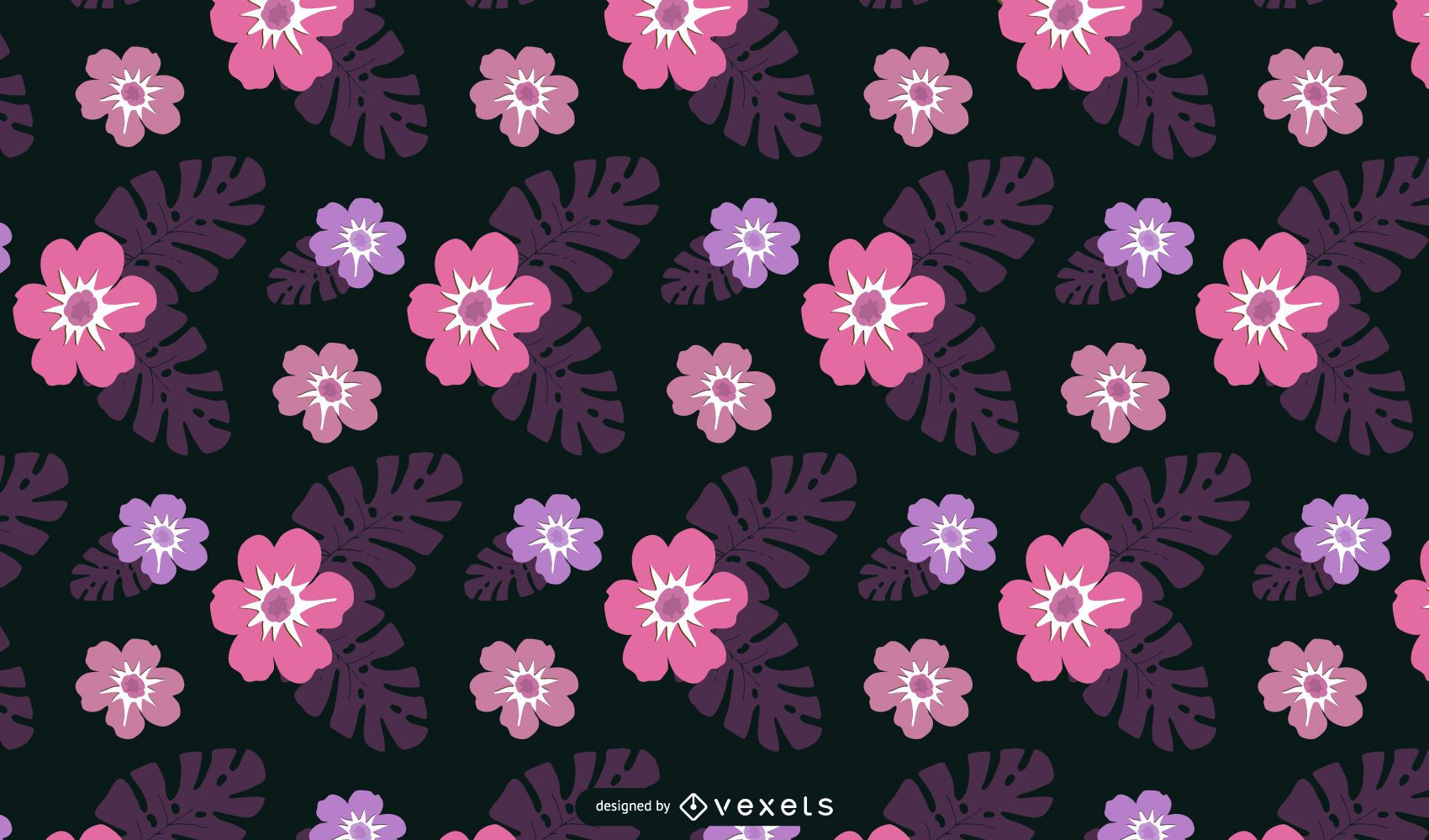 Hawaii Floral Wallpaper Vector Free Vector Download
