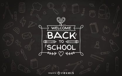 Back to school chalkboard badge