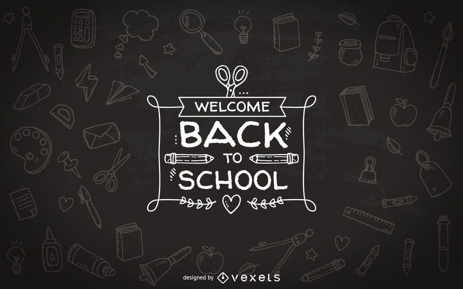 Zurück in die Schule Tafel Abzeichen