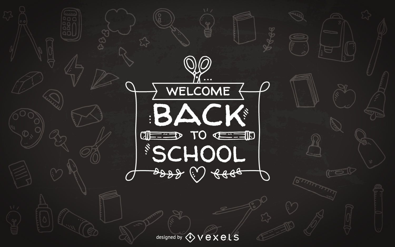 Zurück zur Schule Tafel Abzeichen