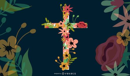 Cruz floral