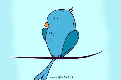 8 gráficos bonitos e simples de pássaros no Twitter