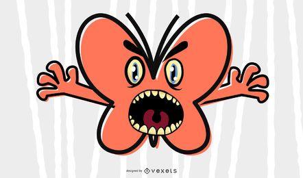 Ilustração de borboleta assustador