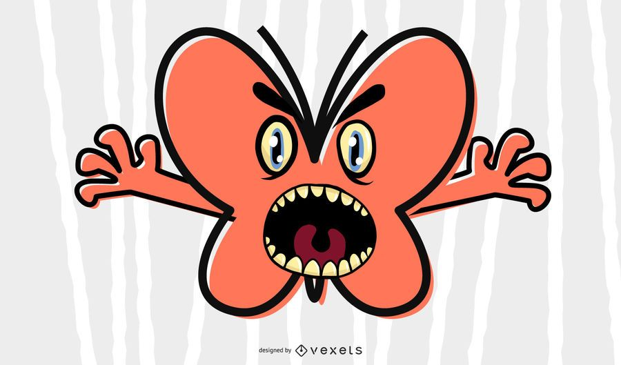 Scary Butterfly Illustration