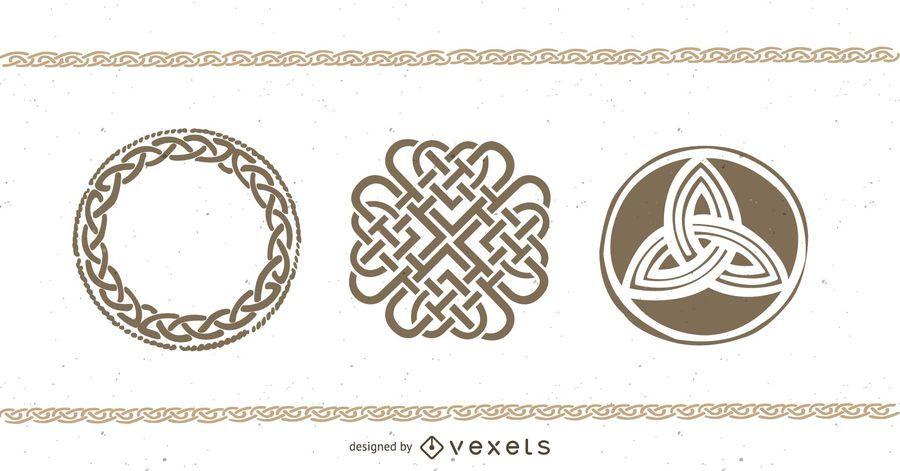 Paar keltische Tattoo-Designs