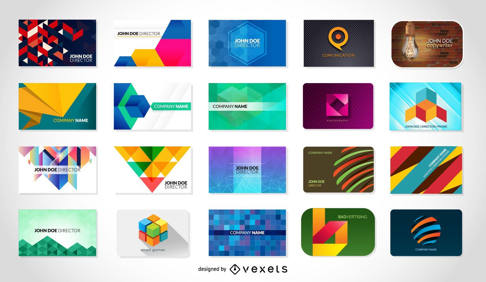 Paquete de tarjetas de visita vectoriales gratis