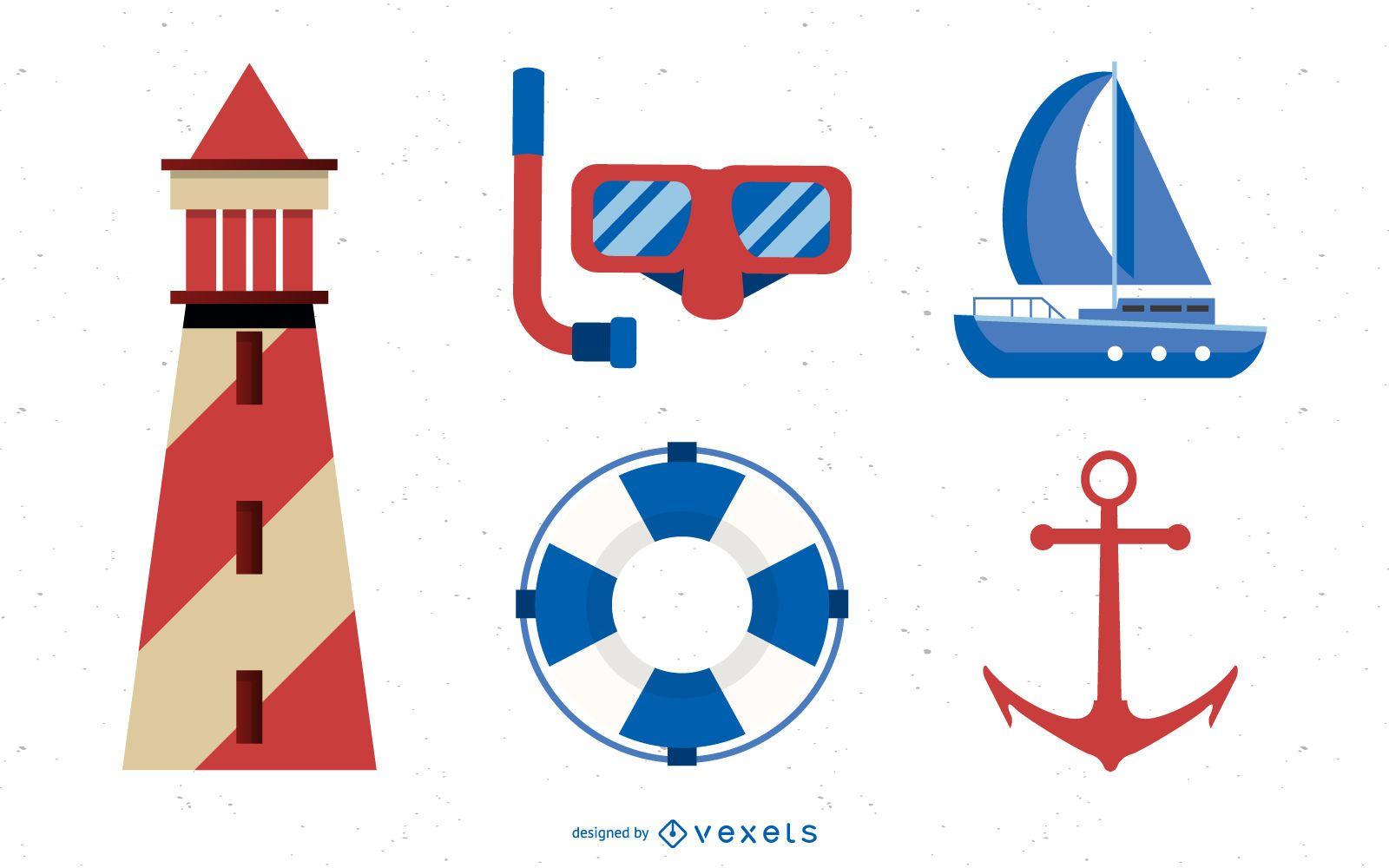Conjunto de diseño de vela de verano