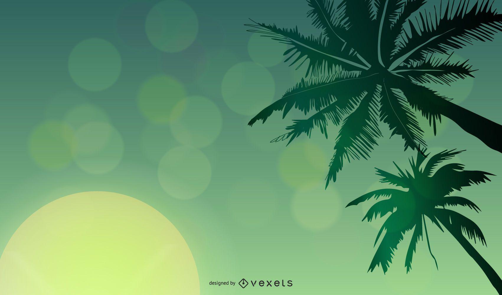 Fondo de verano vector verde libre