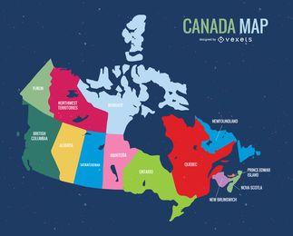 Mapa do vetor do dia do Canadá