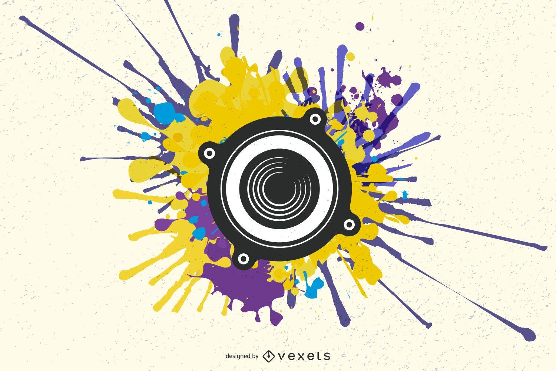 Grunge artistic speaker wallpaper