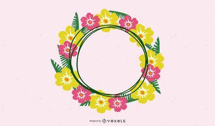 Corona floral de verano