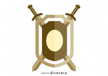 Vector escudo 1 em formato .Ai para ilustrador