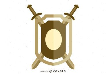 Vector Shield 1 en formato .Ai para ilustrador
