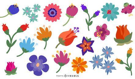 38 flores livres do vetor para o download