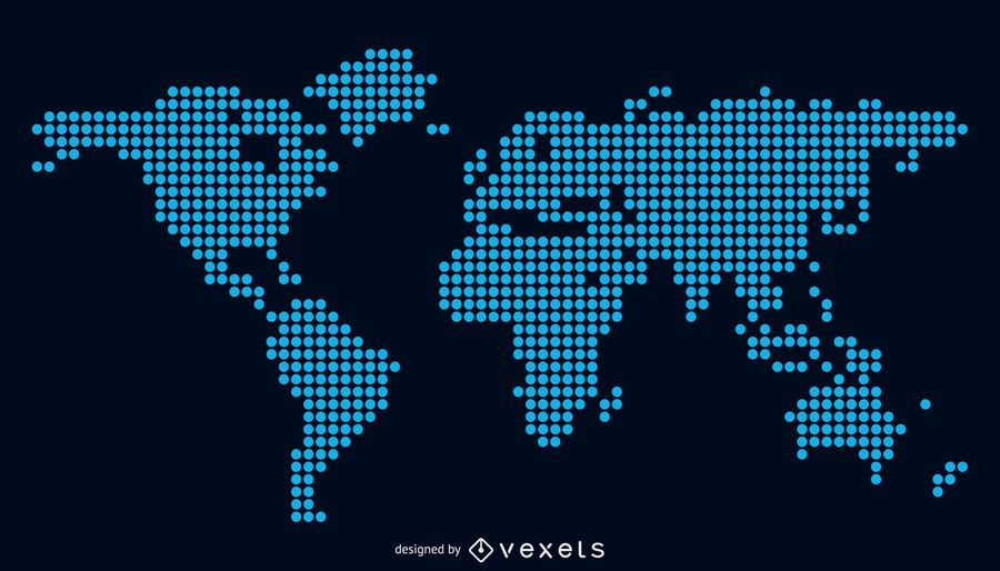 Vector World Map for free Download