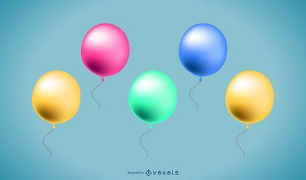 Colección de globos 3d