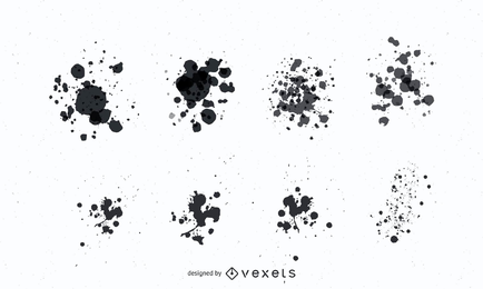 Grunge Paint Splatter Vectors