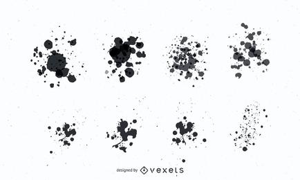 Grunge Paint Splatter-Vektoren