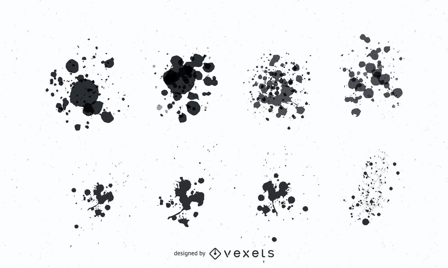 Grunge Paint Splatter Vectors