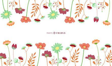 Flores de vetor - página de Downlaod