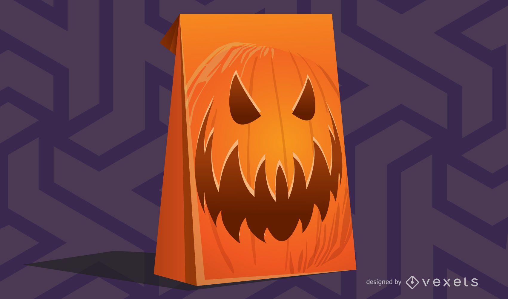 Vector template Pumpkin box