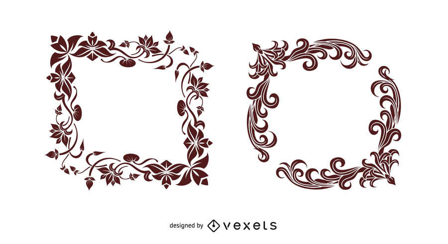 Indian style border Vector Graphic