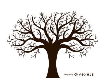 Vetor de design de árvore sem folhas outono