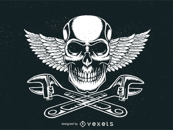 Logotipo de signo motorhead