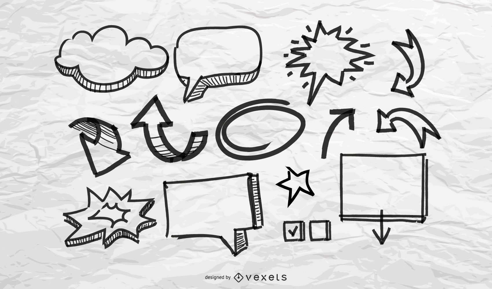 Doodles and Sketches Vector Pack