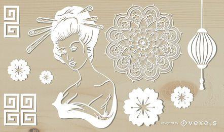 Folk Paper Cuts