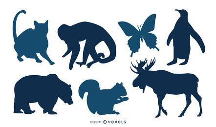 88 silhuetas de animais
