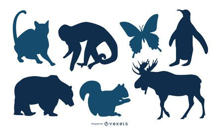 9 Animal Silhouettes