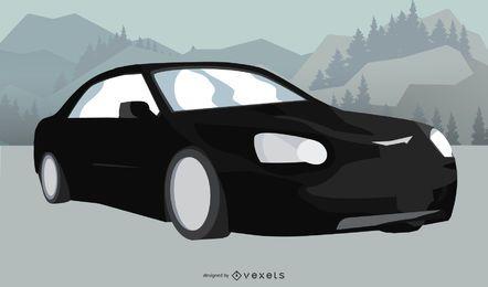 Vector de coche aston