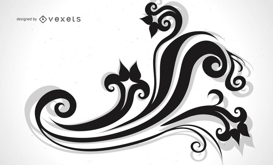 Ornamento decorativo de diseño vectorial