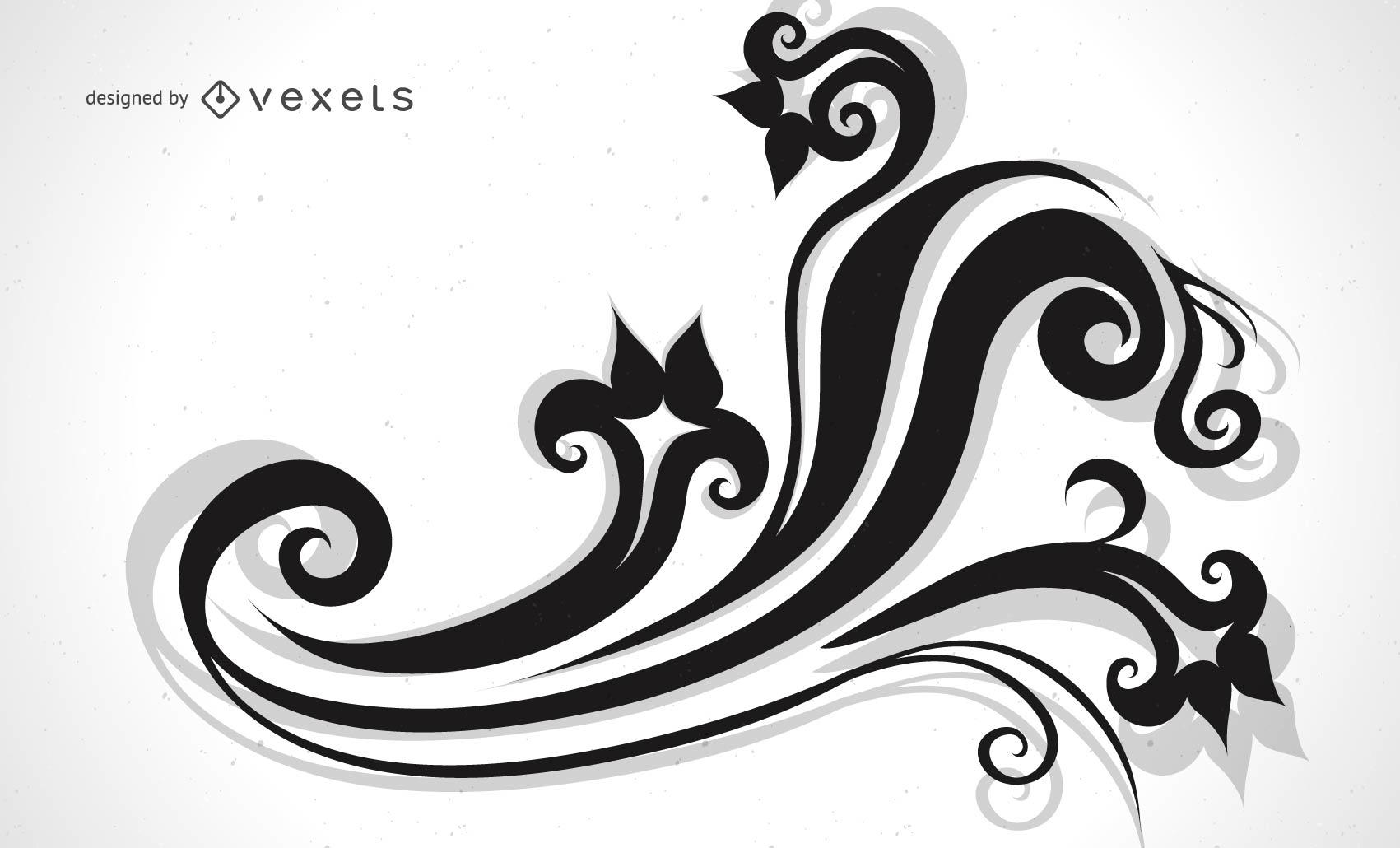 Diseño decorativo del vector del ornamento