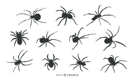 Spider Animal Silhouette Set