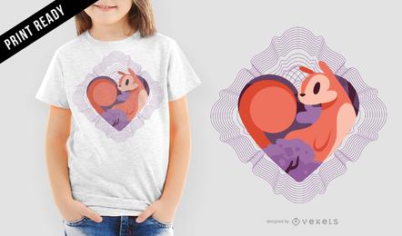 Ardilla amor espirografo vector