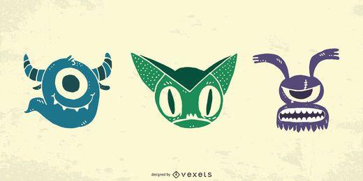 Personajes de vectores de terror personalizados