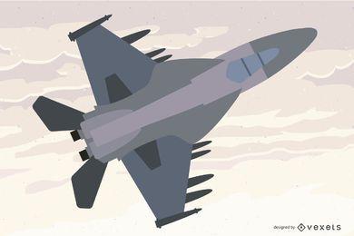 F-18 hornet gráfico vetorizado