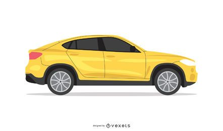Vector de coche amarillo