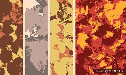 Resumo folhas de outono fundo