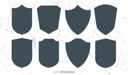 Conjunto de escudos y emblemas.