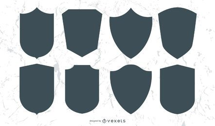 Set of shields and emblems